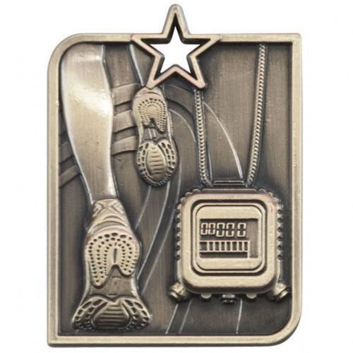 Centurion Star Series Running Medal Gold 53x40mm
